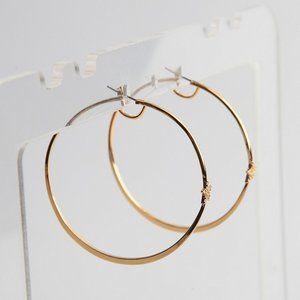 Henri Bendel Shining Star Zircon Circle Earrings